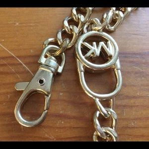 MK MICHAEL KORS Chain Gold Tone Belt with MK